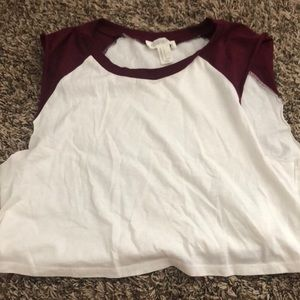 Forever 21 cropped sleeveless shirt size small